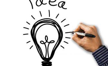 ideaのロゴと電球のイラスト